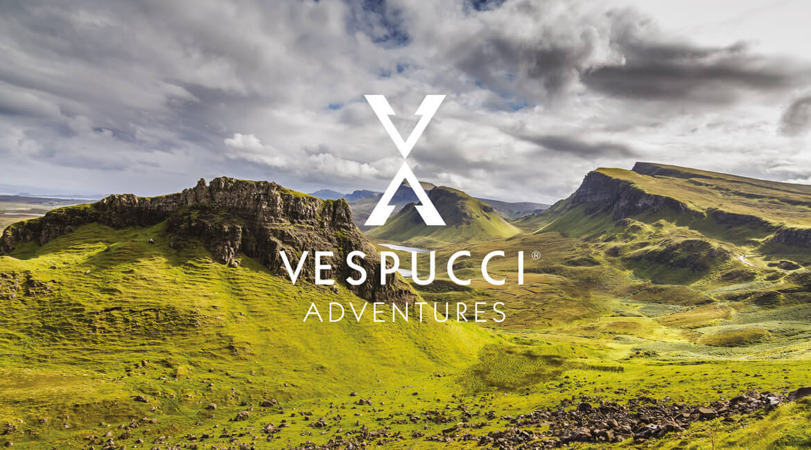 Vespucci Adventures Logo on Landscape